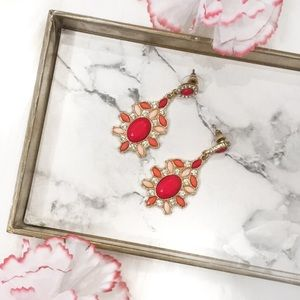 NWOT chic pink statement earrings